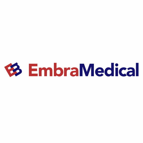 This photo is intended to show the logo of Embra Medical.